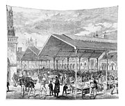 London: Fish Market, 1870 Tapestry