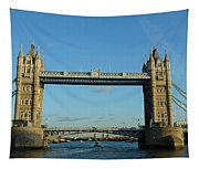 London Tower Bridge Looking Magnificent In The Setting Sun Tapestry