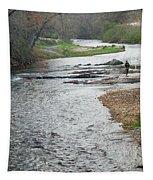 Lone Fisherman 1 Tapestry