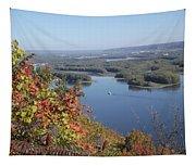 Lone River Boat Tapestry