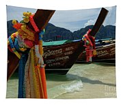 Long Tail Boats Tapestry