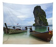 Long Tail Boats Thailand Tapestry
