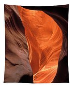 Looking Up At Antelope Canyon Tapestry