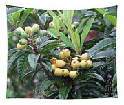 Loquats In The Rain Tapestry