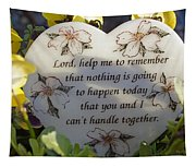 Lord Help Me To Remember Tapestry