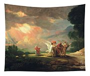 Lot Fleeing From Sodom Tapestry