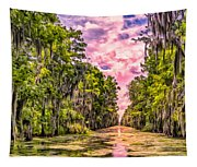 Louisiana Bayou Sunrise Tapestry
