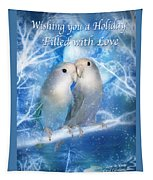 Love At Christmas Card Tapestry