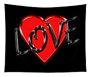Love Black And Red 1 Tapestry