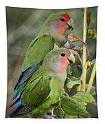 Lovebird Couple  Tapestry