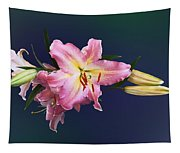 Lovely Pink Lilies Tapestry