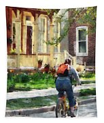Lovely Spring Day For A Ride Tapestry
