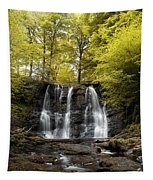 Low Angle View Of A Waterfall In A Tapestry