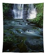 Low Angle View Of A Waterfall Tapestry