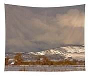 Low Winter Storm Clouds Colorado Rocky Mountain Foothills 2 Tapestry