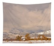 Low Winter Storm Clouds Colorado Rocky Mountain Foothills 5 Tapestry