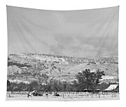 Low Winter Storm Clouds Colorado Rocky Mountain Foothills 7 Bw Tapestry