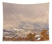 Low Winter Storm Clouds Colorado Rocky Mountain Foothills 7 Tapestry