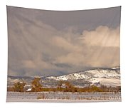 Low Winter Storm Clouds Colorado Rocky Mountain Foothills Tapestry