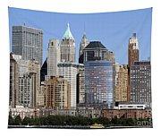 Lower Manhattan New York City Skyline Tapestry
