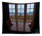 Lunch With A View Tapestry