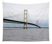 Mackinac Bridge From Water 2 Tapestry