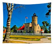 Mackinac Point Light Tapestry
