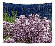 Magnolia By The Lake Tapestry