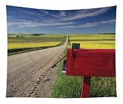 Mailbox On Country Road, Tiger Hills Tapestry