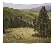 Majesty In The Rockies Tapestry