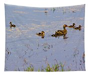 Mama Duck And The Kiddies Tapestry