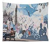Man Sunning Tapestry
