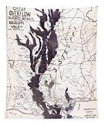 Map: Mississippi River, 1874 Tapestry