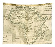 Map Of Africa Tapestry