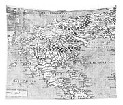 Map Of New France, 1566 Tapestry