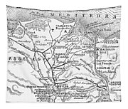 Map: Suez Canal, 1869 Tapestry