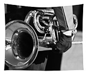 Marching Band Horn Bw Tapestry