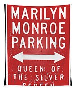 Marilyn Monroe Parking Tapestry