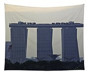 Marina Bay Sands As Seen From The Harbor Cruise Tapestry