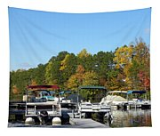 Marina In Fall Tapestry