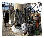 Maritime Pulley And Rope Work Tapestry