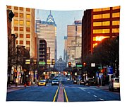 Market Street In The Morning Tapestry