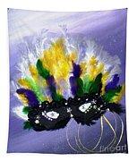 Masque Over Bourbon Street Tapestry