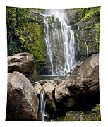 Mauis Wailua Falls And Rocks Tapestry