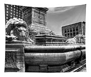 Mckinley Memorial In Black And White Tapestry