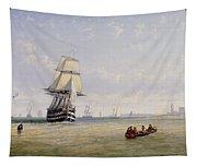 Meno War Schooners And Royal Navy Yachts Tapestry