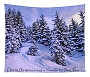 Merry Christmas And A Wonderful New Year Tapestry