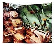 Metal Lathe In Submarine Tapestry