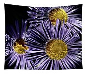 Metallic Daisies Tapestry