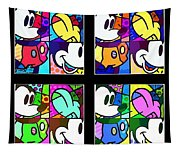 Mickey In Colors Tapestry